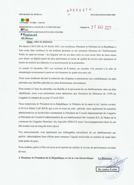 Macky nomme un nouveau DG de l'hôpital Magatte Lô de Linguère