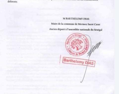 Affaire Tounkara : Barth écrit au juge de l'immigration de l'État de New York (Documents)