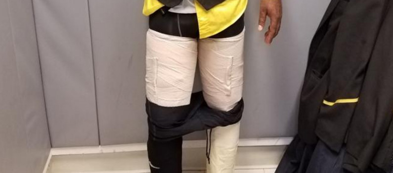 Ziguinchor: Un dealer pris avec un KG de la drogue scotchée sur ses jambes