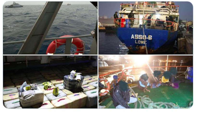 Trafic de drogue : la Marine Nationale intercepte un navire transportant du haschich