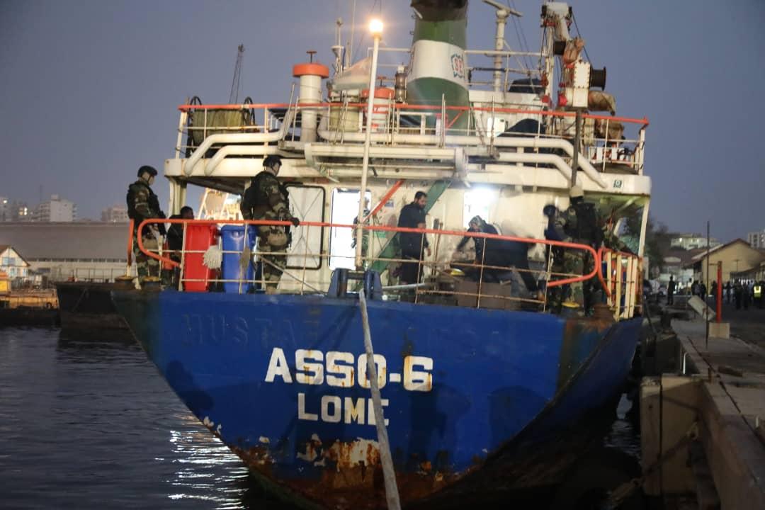 """Trafic de drogue : Les révélations explosives sur le Navire Cargo """"ASSO 6 """" intercepté par la marine nationale ..."""