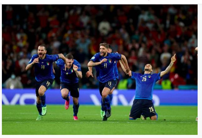 Les Italiens en finale de l'Euro 2021