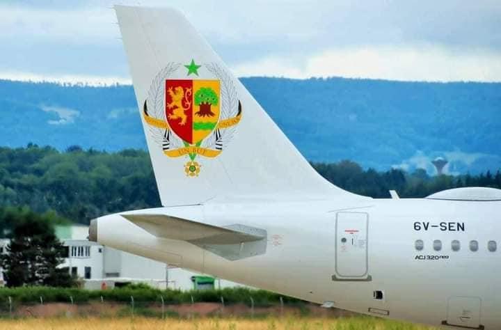 """SÉNÉGAL : Le nouvel avion présidentiel baptisé """"Langue de Barbarie"""""""