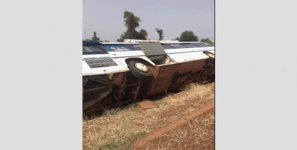 Accident- Le bus transportant des étudiants de Bakel se renverse