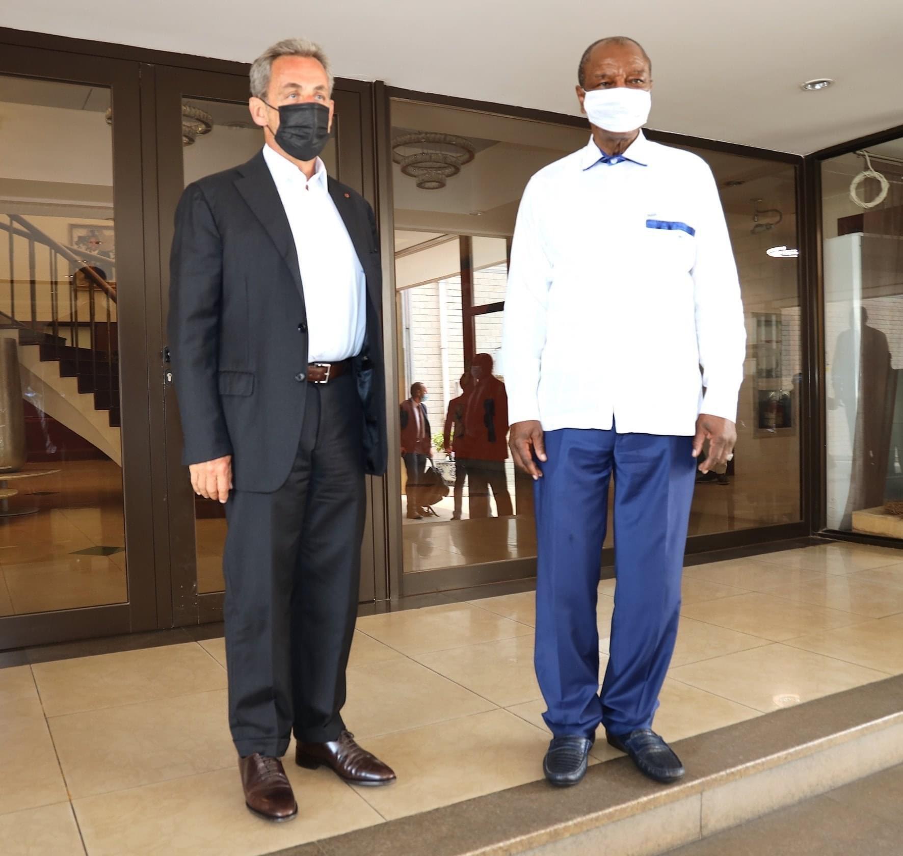 Conakry: Nicolas Sarkozy rencontre Condé