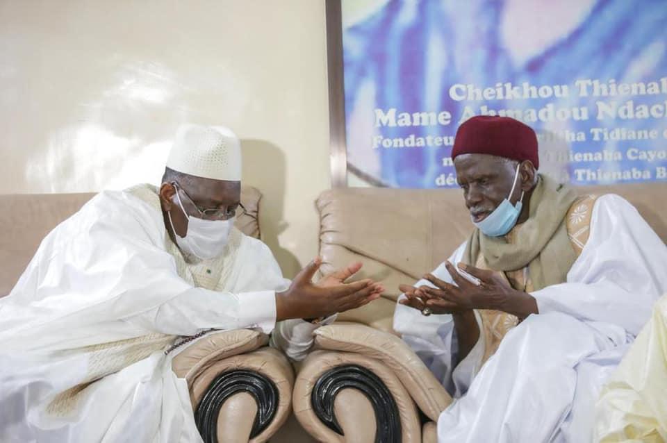 Présentations de Condoléances: Le Président Macky SALL à Thiénaba