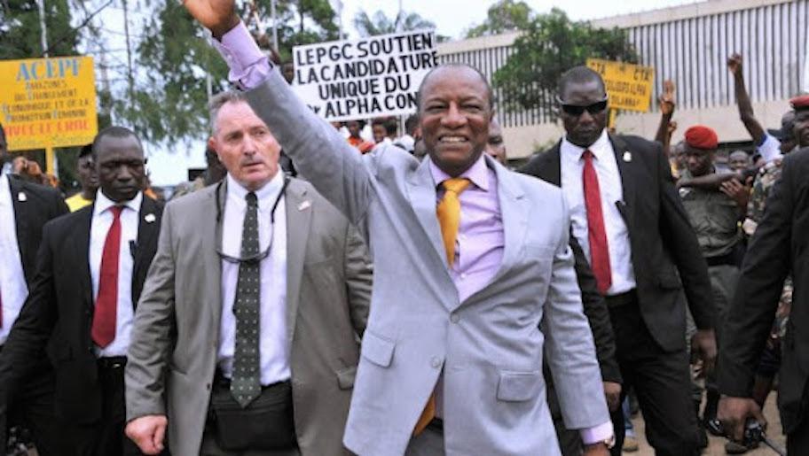 """Découvrez la nationalité des """"mercenaires"""" qui assuraient la sécurité de Condé"""