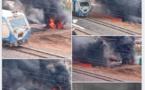 URGENT: Un pipeline en feu au niveau des rails...