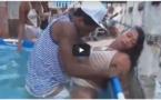 VIDEO : Une Piscine party transformée en scène porn0 – Regardez