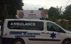 Ziguinchor: L'ambulance de Boutoupa- Camaracounda, heurte un caniveau le jour de sa remise