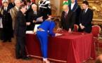 C'est le premier ministre du Danemark, Helle Thorning-Schmidt