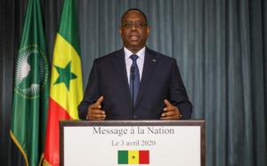Le président Macky Sall: «Restons chez nous. Prenons conscience des risques...  »