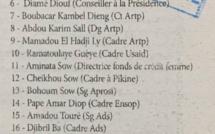 Présidence : voici la liste des cadres Apéristes, qui se battaient hier chez Macky pour des sous