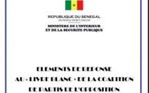 Réplique du ministère de l'Intérieur au livre blanc de la coalition gagnante Wattù Senegaal (DOCUMENTS)