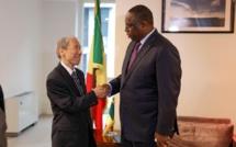 Macky Sall recevant Donald Yamamoto, sous-secrétaire d'Etat de Trump aux Affaires africaines