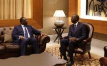 Le Président de la République Macky Sall dans le pavillon présidentiel de l'AIBD