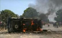 Dernière minute: un véhicule de l'administration brûlé à Ziguinchor