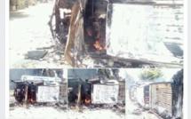 Vidéo : A Ziguinchor des élèves grévistes brûlent un véhicule de la police. Regardez !
