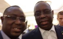 Mamadou Lamine Keita et le couple présidentiel en Russie