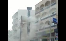 Un poteau électrique a pris feu aux Parcelles Assainies (Regardez)