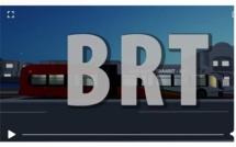 Lancement des travaux du BRT, le 28 octobre 2019
