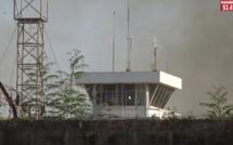 Vidéo: Tout sur le feu de brousse qui a troublé le travail à  l'Aéroport de Ziguinchor ce jeudi