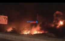 Dernière minute :Un violent incendie ravage Technopole de Pikine  (REGARDEZ)